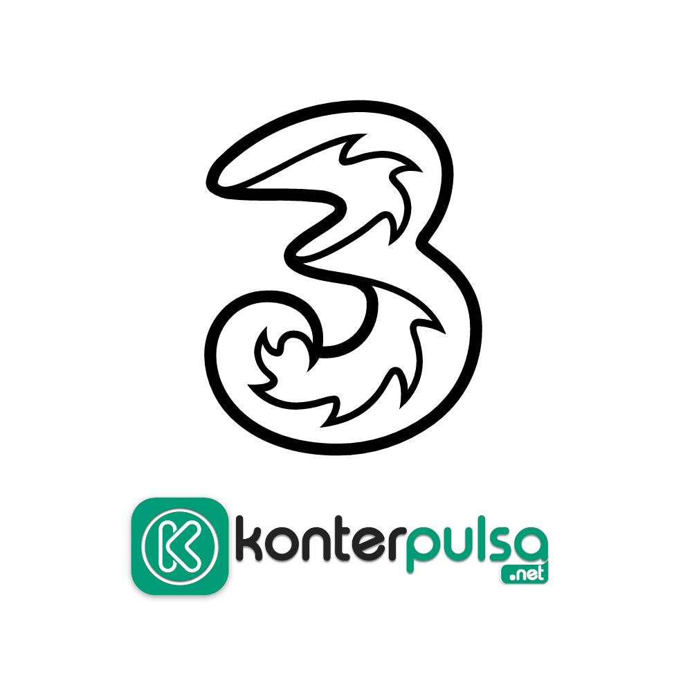 Paket Internet Three - Three 1GB 7 hari